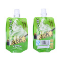 Biodegradable Foil Stand up Kemasan Cair Juice Jelly Spout Pouch Bag