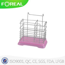 Metal Wire Utensil Holder with Plastic Base