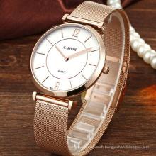 Fashion Custom Logo Japan PC21 Mesh Wrist Watch For Couples
