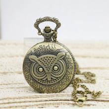 Soem-Retro- Uhr-Geschenk-Halsketten-große Eulen-Uhr-Taschen-Uhr