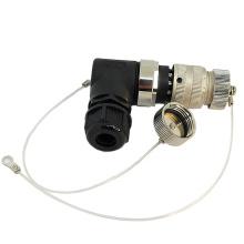 Bouchon anti-poussière en métal pour connecteur circulaire M23