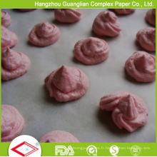 Feuille de papier de cuisson antiadhésive sûre de four pré-coupé par 40GSM