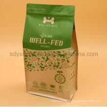 Papel laminado de alimentos para mascotas bolsa de plástico con papel de aluminio