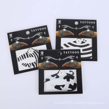 Haut sicher temporäre Aufkleber Design ungiftig Mode Promo Party Hand schwarz Tattoo Aufkleber