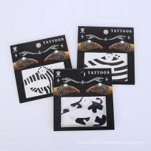 Design de adesivo temporário seguro de pele não-tóxico moda promo festa mão preto tatuagem etiqueta