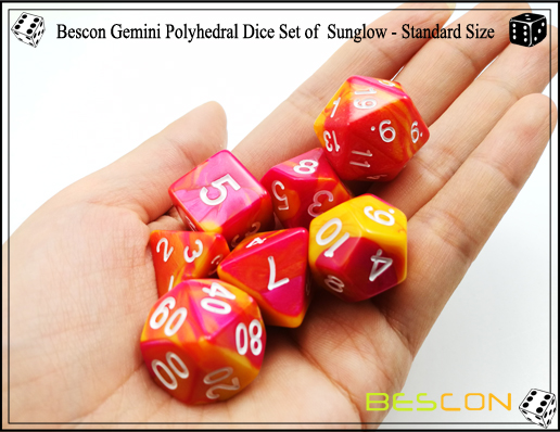 Bescon Gemini Dice Set of Sunglow-2