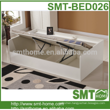 melamine mdf and particle board china single bed with storage drawer