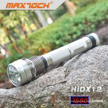 Digital y USB Maxtoch HIDX12 Mostrar la antorcha de luz HID de 6600mAh batería 85W