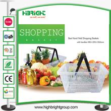 Double Handle Plastic Shopping Baskets