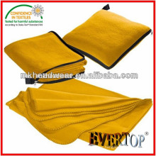 Hot Sale Warm Thick Soft 100% Polyester Home Textile Pillow Throw Solid Fleece Blanket with Zipper