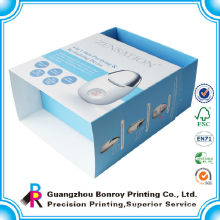 Customized coated one side C1S art paper drawer box collapsible packaging box with lamination