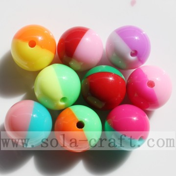 Double Colored Candy Beads Jewelry Finding DIY Beads