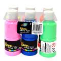 Wholesale A0208 6*120ml Neon fabric Paint Kids Neon Acrylic Paint art set