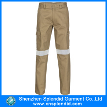 Custom High Visibility Khaki Multi Pockets Work Men′s Trousers