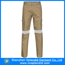 Wholesale Mens Cargo Khaki Pants with 3m Reflective Tape