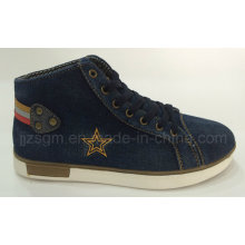 Fashion High Top Washed Denim Street Casual Shoes