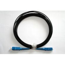 Cordones de remiendo de la fibra óptica del cable de la gota de Sc-Sc FTTH