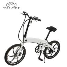 20 pouces en alliage de magnésium roues pliant vélo électrique