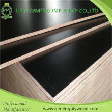 O filme de exportação profissional da cor do preto da categoria 18mm da construção enfrentou a madeira compensada