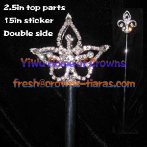 Queen Crystal Pageant Scepters