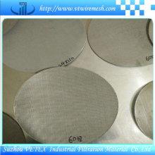Grillage carré d'acier inoxydable utilisé dans l'industrie alimentaire