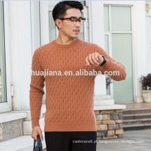 Cashmere tricô camisola grossa para homens