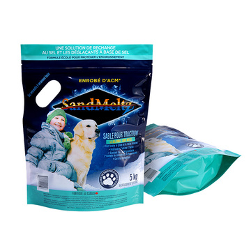 Waterproof Standing Plastic Zip Bag For Pet Pet