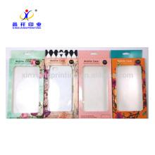 Cas de téléphone portable accrochant des boîtes d'emballage au détail