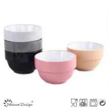 "6"" Color Glazed Stoneware Bowl"