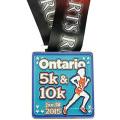Esportes personalizados executando medalha (LM10051)