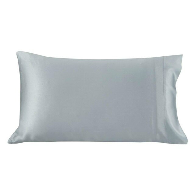 Silver Blue Silk Pillowcase