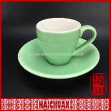 180cc фарфоровая красная чашка чая и блюдце с серебряной декалью