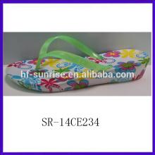SR-14CE234 2014Fujian new style flower printed eva slipper cheap wholesale low MOQ indoor slippers Summer Women EVA Slippers