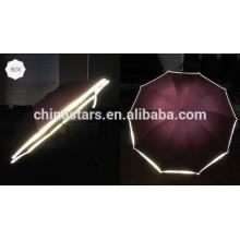 Hi-sichtbarer reflektierender wasserdichter Regenschirm