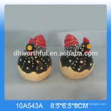 Salero y pimienta de gallo de cerámica de alta calidad