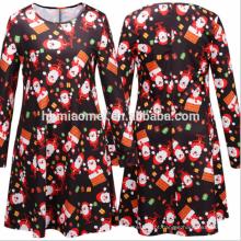 New Design Vestido Mulheres Casual Elegante Desgaste De Natal Plus Size Gordura Roupas Femininas