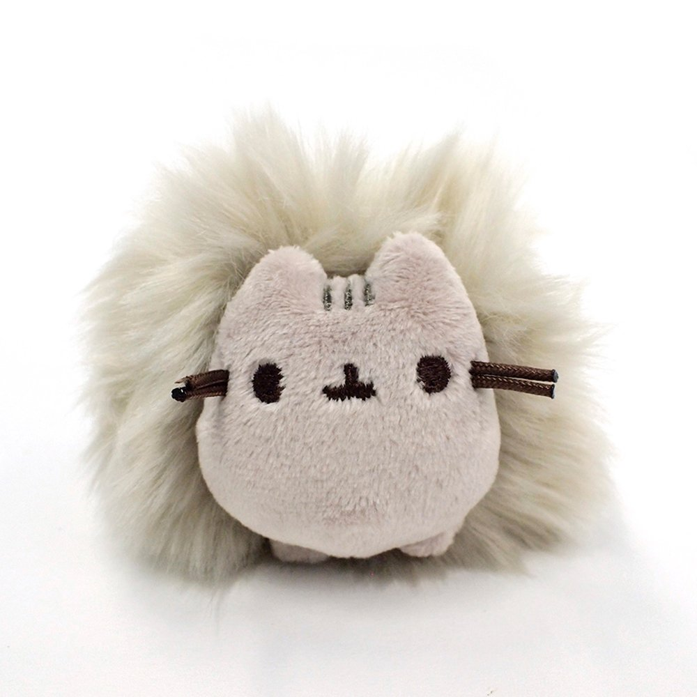 Plush Cat Pom Poof Key Chain 2