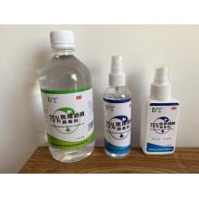 desinfetante em spray desinfetante para as mãos etílico descartável