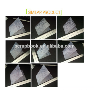 Leaves shape cheap plastic embossing folders for sale 2016 fashion christmas alibaba china supplier