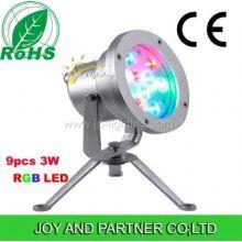 IP68 27W RGB LED подводный свет пятна