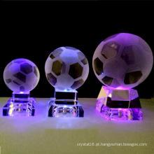 Bola de cristal de decoração caseira com luz LED