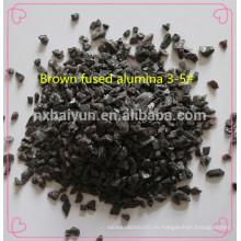 Lijado de arena de óxido de aluminio / alúmina fundida marrón / material abrasivo