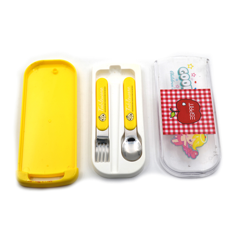 Baby Tableware Kids Travel Cutlery with PP box