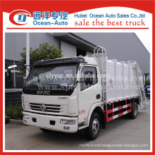China factory dongfeng 8000L compactor rubbish truck