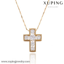 32279 Xuping trendy charm gold plated Cruz colgante