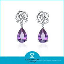 Bijoux de mariage en argent direct Gemstone Earrings Factory Price (E-0081)