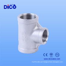 Made in China Fundição de aço inoxidável 3 Way Connector