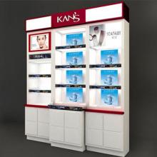 Hochwertige hölzerne Acryl Make-up Kosmetik Display Stand für Kosmetik