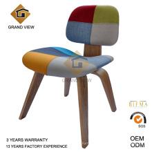 Tissu cendres bois Eames Lounge dinant la chaise (GV-DCW 006)