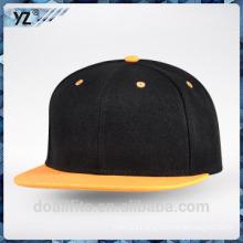 Costom snapack cap logo with flat brim good quality